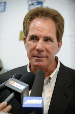 CHARLOTTE, NC - JUNE 14:  Darrell Waltrip, 2012 NASCAR Hall of Fame inductee, speaks to the media during the NASCAR Hall of Fame Voting Day at NASCAR Hall of Fame on June 14, 2011 in Charlotte, North Carolina.  (Photo by Jared C. Tilton/Getty Images for N
