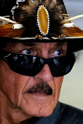 INDIANAPOLIS, IN - JULY 30:  NASCAR Hall of Famer Richard Petty looks on during practice for the NASCAR Sprint Cup Series Brickyard 400 at Indianapolis Motor Speedway on July 30, 2011 in Indianapolis, Indiana.  (Photo by John Harrelson/Getty Images for NA