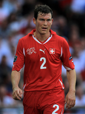LONDON, ENGLAND - JUNE 04:  Stephan Lichtsteiner of Switzerland looks on during the UEFA EURO 2012 group G qualifying match between England and Switzerland at Wembley Stadium on June 4, 2011 in London, England.  (Photo by David Cannon/Getty Images)