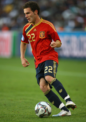 BLOEMFONTEIN, SOUTH AFRICA - JUNE 17:  Juan Manuel Mata of Spain during the FIFA Confederations Cup match between Spain and Iraq at the Free State Stadium on June 17, 2009 in Bloemfontein, South Africa. (Photo by Alex Livesey/Getty Images)