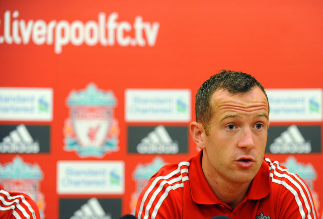 LIVERPOOL, UNITED KINGDOM - AUGUST 03: Liverpool FC present new signing Charlie Adam at a press conference at Melwood Training Ground on August 03, 2011 in Liverpool , England. (Photo by Clint Hughes/Getty Images)