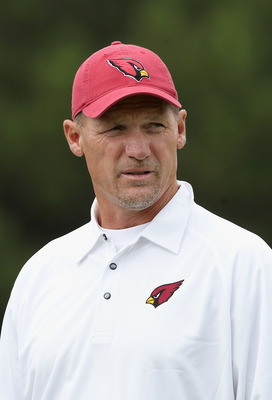 FLAGSTAFF, AZ - JULY 31:  Head coach Ken Whisenhunt of the Arizona Cardinals watches practice at the team training camp at Northern Arizona University on July 31, 2011 in Flagstaff, Arizona.  (Photo by Christian Petersen/Getty Images)