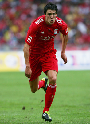 KUALA LUMPUR, MALAYSIA - JULY 16: Martin Kelly of Liverpool during the pre-season friendly match between Malaysia and Liverpool at the Bukit Jalil National Stadium on July 16, 2011 in Kuala Lumpur, Malaysia. (Photo by Stanley Chou/Getty Images)