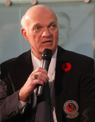 TORONTO, ON - NOVEMBER 09:  Lou Lamoriello speaks with the media at the Hockey Hall of Fame Induction Photo Opportunity at the Hockey Hall of Fame on November 9, 2009 in Toronto, Canada.  (Photo by Bruce Bennett/Getty Images)