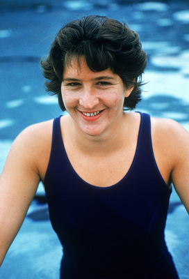 AUSTRALIA - 1964:  Australian swimmer Dawn Fraser poses of a photo in Sydney, Australia. Fraser won eight Olympic medals, including four golds, and six Commonwealth Games gold medals. In October 1962 she became the first woman to swim the 100 metres in le