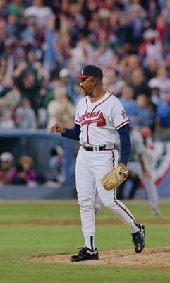 6 Oct 1995: ATLANTA PITCHER ALEJANDRO PENA DURING THE BRAVES 7-5 LOSS TO THE COLORADO ROCKIES AT FULTON COUNTY STADIUM IN ATLANTA, GEORGIA.