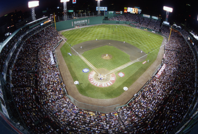 13 Jul 1999:  A general view of Fenway Park during the 1999 All-Star game in Boston, Massachusetts. Mandatory Credit: Al Bello/ALLSPORT