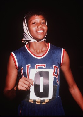 3 AUG 1960:  WILMA RUDOLPH OF THE USA AT THE SUMMER OLYMPICS IN ROME, ITALY WHERE SHE WON THE 100 METER AND 200 METER SPRINTS. Mandatory Credit: ALLSPORT/ALLSPORT