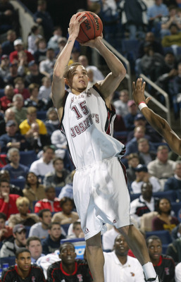 BUFFALO, NY - MARCH 20:  Delonte West #15 of the St. Joseph's University Hawks shoots against the Texas Tech University Red Raiders during the second round of the NCAA Men's Basketball Championships at HSBC Arena on March 20, 2004 in Buffalo, New York.  T