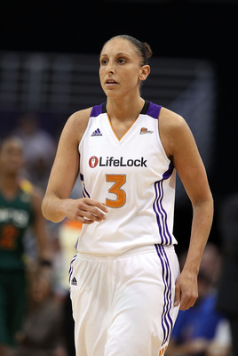 PHOENIX, AZ - JULY 26:  Diana Taurasi #3 of the Phoenix Mercury in action during the WNBA game against the Seattle Storm at US Airways Center on July 26, 2011 in Phoenix, Arizona. The Storm defeated the Mercury 83-77.  NOTE TO USER: User expressly acknowl