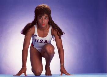 JANUARY 26:  Studio portrait of Florence Griffith Joyner on January 26, 1996. (Photo by Tony Duffy/Getty Images)