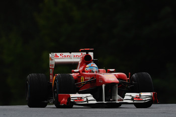 BUDAPEST, HUNGARY - JULY 31:  Fernando Alonso of Spain and Ferrari drives during the Hungarian Formula One Grand Prix at the Hungaroring on July 31, 2011 in Budapest, Hungary.  (Photo by Lars Baron/Getty Images)