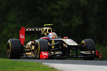 BUDAPEST, HUNGARY - JULY 29:  Vitaly Petrov of Russia and Renault drives during practice for the Hungarian Formula One Grand Prix at the Hungaroring on July 29, 2011 in Budapest, Hungary.  (Photo by Lars Baron/Getty Images)