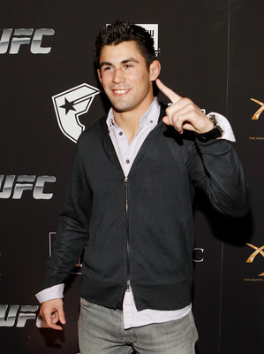 LAS VEGAS - FEBRUARY 15:  UFC fighter Dominick Cruz arrives at UFC, Famous Stars and Straps and New Era's 'The Magic Party' at XS the nightclub on February 15, 2011 in Las Vegas, Nevada.  (Photo by Isaac Brekken/Getty Images)