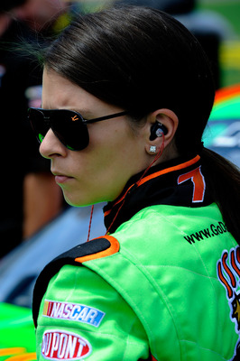 DAYTONA BEACH, FL - JULY 01:  Danica Patrick, driver of the #7 GoDaddy.com Chevrolet, looks on during qualifying for the NASCAR Nationwide Series Subway Jalapeno 250 Powered by Coca-Cola at Daytona International Speedway on July 1, 2011 in Daytona Beach,