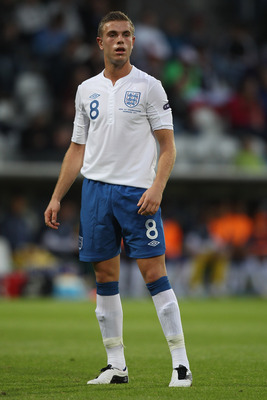 VIBORG, DENMARK - JUNE 19:  Jordan Henderson of England during the UEFA European Under-21 Championship Group B match between England and Czech Republic at the Viborg Stadium on June 19, 2011 in Viborg, Denmark.  (Photo by Michael Steele/Getty Images)