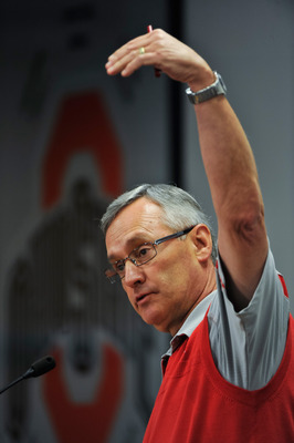 The departure of Jim Tressel could put a damper on OSU's Big Ten title hopes
