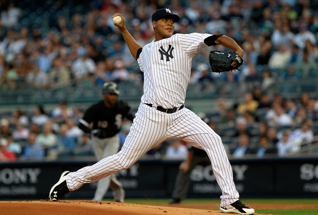 NEW YORK, NY - APRIL 26:  Ivan Nova #47 of the New York Yankees pitches against the Chicago White Sox at Yankee Stadium on April 26, 2011 in the Bronx borough of New York City.  (Photo by Chris Trotman/Getty Images)
