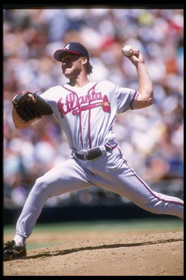 14 Jul 1995:  Pitcher Kent Mercker of the Atlanta Braves prepares to  throws the ball during a game against the San Diego Padres.  The Braves won the game 6-2.. Mandatory Credit: Stephen Dunn  /Allsport