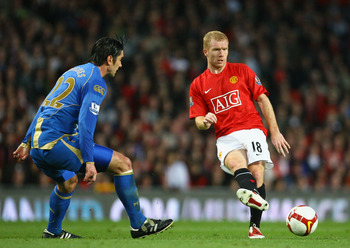 Scholes was the pinnacle of United's midfield.