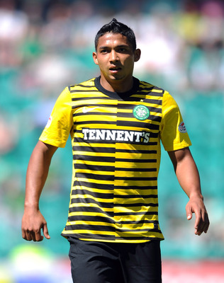 EDINBURGH, SCOTLAND - JULY 24:  Emilio Izaguirre of Celtic looks on during the Clydesdale Bank Premier League match between Hibernian and Celtic at Easter Road on July 24, 2011 in Edinburgh, Scotland.  (Photo by Chris Brunskill/Getty Images)