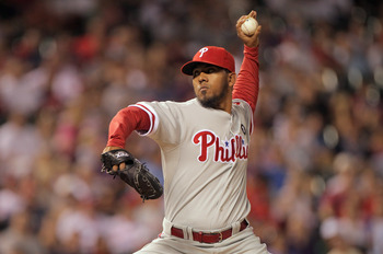 DENVER, CO - AUGUST 01:  Relief pitcher Antonio Bastardo #58 of the Philadelphia Phillies works against the Colorado Rockies in the ninth inning at Coors Field on August 1, 2011 in Denver, Colorado. Bastardo earned the win as the Phillies defeated the Roc