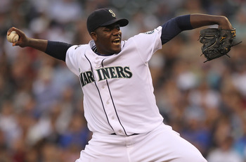 SEATTLE - JUNE 28:  Starting pitcher Michael Pineda #36 of the Seattle Mariners pitches against the Atlanta Braves at Safeco Field on June 28, 2011 in Seattle, Washington. (Photo by Otto Greule Jr/Getty Images)