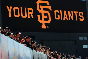 SAN FRANCISCO, CA - APRIL 08:  Baseball fans watch batting practice before the start of the San Francisco Giants home opener against the St. Louis Cardinals at AT&T Park on April 8, 2011 in San Francisco, California.  (Photo by Justin Sullivan/Getty Image