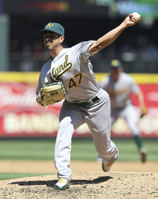 SEATTLE - AUGUST 03:  Starting pitcher Gio Gonzalez #47 of the Oakland Athletics pitches against the Seattle Mariners at Safeco Field on August 3, 2011 in Seattle, Washington. (Photo by Otto Greule Jr/Getty Images)