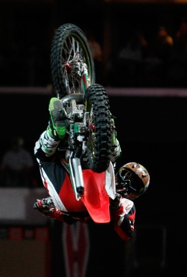 Paris Rosen, one of six men who have attempted a front flip at the X Games