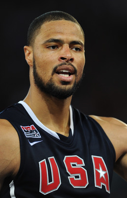 MADRID, SPAIN - AUGUST 22:  Tyson Chandler of the USA watches on during a friendly basketball game between Spain and the USA at La Caja Magica on August 22, 2010 in Madrid, Spain.  (Photo by Jasper Juinen/Getty Images)