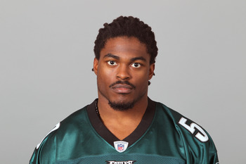 PHILADELPHIA, PA - APRIL 29: In this 2010 photo provided by the NFL, Ernie Sims of the Philadelphia Eagles poses for an NFL headshot on Thursday, April 29, 2010 in Philadelphia, Pennsylvania. (Photo by NFL via Getty Images)