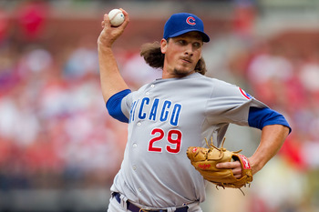 ST. LOUIS, MO - JULY 30: Reliever Jeff Samardzija #29 of the Chicago Cubs pitches against the St. Louis Cardinals at Busch Stadium on July 30, 2011 in St. Louis, Missouri.  (Photo by Dilip Vishwanat/Getty Images)