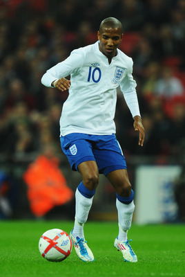 LONDON, ENGLAND - MARCH 29:  Ashley Young of England in action during the international friendly match between England and Ghana at Wembley Stadium on March 29, 2011 in London, England.  (Photo by Mike Hewitt/Getty Images)