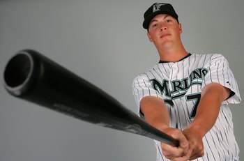 JUPITER, FL - MARCH 02:  Infielder Matt Dominguez #78 of the Florida Marlins poses during photo day at Roger Dean Stadium on March 2, 2010 in Jupiter, Florida.  (Photo by Doug Benc/Getty Images)