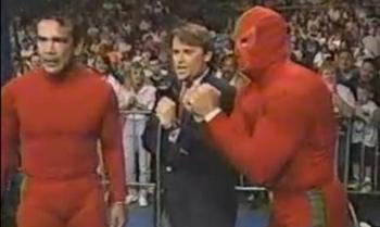 Aren't those masks really uncomfortable?  Why didn't Shane Douglas take his off like Ricky Steamboat did?
