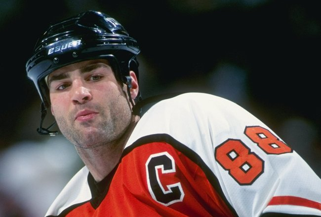 20 Feb 1999:  Eric Lindros #88 of the Philadelphia Flyers looking on during the game against the Ottawa Senators at the Corel Centre in Ottawa, Canada. The Senators defeated the Flyers 4-1. Mandatory Credit: Robert Laberge  /Allsport