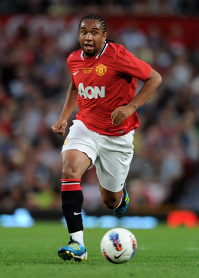 MANCHESTER, ENGLAND - AUGUST 05:  Anderson of Manchester United in action during Paul Scholes' Testimonial Match between Manchester United and New York Cosmos at Old Trafford on August 5, 2011 in Manchester, England.  (Photo by Chris Brunskill/Getty Image