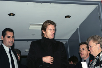 TORONTO, ON - NOVEMBER 7:  Actor Dennis Leary and Michael J. Fox (right) attend the Hockey Hall of Fame, for induction ceremony on November 7, 2005 in Toronto, Ontario, Canada. (Photo by Bruce Bennett/Getty Images)