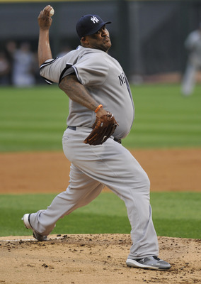 CHICAGO, IL - AUGUST 01: CC Sabathia #52 of the New York Yankees pitches against the Chicago White Sox on August 1, 2011 at U.S. Cellular Field in Chicago, Illinois.  (Photo by David Banks/Getty Images)