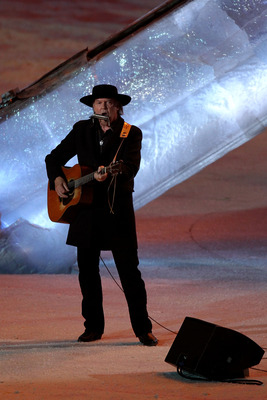 VANCOUVER, BC - FEBRUARY 28:  Neil Young performs during the Closing Ceremony of the Vancouver 2010 Winter Olympics at BC Place on February 28, 2010 in Vancouver, Canada.  (Photo by Clive Rose/Getty Images)