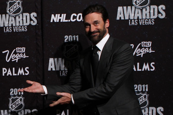 LAS VEGAS, NV - JUNE 22:  Actor Jon Hamm arrives at the 2011 NHL Awards at the Palms Casino Resort June 22, 2011 in Las Vegas, Nevada.  (Photo by Bruce Bennett/Getty Images)