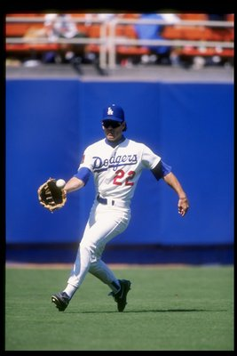 4 Aug 1994:  Outfielder Brett Butler of the Los Angeles Dodgers goes for the ball during a game against the San Diego Padres at Dodger Stadium in Lso Angeles, California. Mandatory Credit: Jed Jacobsohn  /Allsport