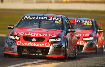 TeamVodafone duo Jamie Whincup and Craig Lowndes lead the standings