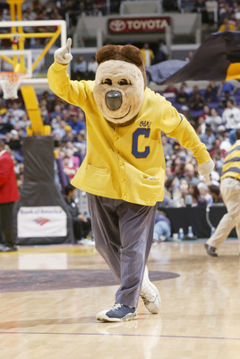 7 Mar 2002:   The Cal mascot during the men's Pacific 10 Tournament at Staples Center in Los Angeles, California.  California defeated UCLA 67-66. DIGITAL IMAGE.  Mandatory Credit: Stephen Dunn/Getty Images