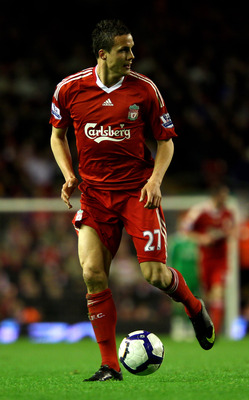 LIVERPOOL, ENGLAND - APRIL 19:  Philipp Degen of Liverpool in action during the Barclays Premier League match between Liverpool and West Ham United at Anfield on April 19, 2010 in Liverpool, England.  (Photo by Clive Brunskill/Getty Images)