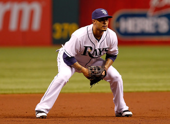 ST. PETERSBURG, FL - APRIL 21:  Infielder Felipe Lopez #45 of the Tampa Bay Rays plays third base against the Chicago White Sox during the game at Tropicana Field on April 21, 2011 in St. Petersburg, Florida.  (Photo by J. Meric/Getty Images)