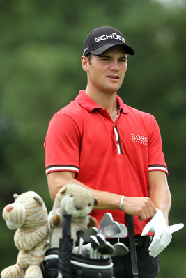 AKRON, OH - AUGUST 05:  Martin Kaymer of Germany prepares to hit his tee shot on the third hole during the second round of the World Golf Championships-Bridgestone Invitational on the South Course at Firestone Country Club on August 5, 2011 in Akron, Ohio