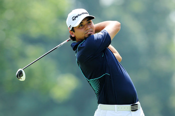 AKRON, OH - AUGUST 07:  Jason Day of Australia hits his tee shot on the third hole during the final round of the World Golf Championships-Bridgestone Invitational on the South Course at Firestone Country Club on August 7, 2011 in Akron, Ohio.  (Photo by A