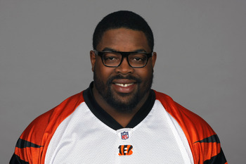 CINCINNATI, OH - CIRCA 2010: In this handout image provided by the NFL, Tank Johnson of the Cincinnati Bengals poses for his 2010 NFL headshot circa 2010 in Cincinnati, Ohio.  (Photo by NFL via Getty Images)